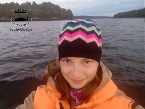 Выпускница научной группы по колюшке Белого моря СПб